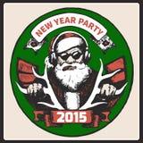 圣诞老人葡萄酒海报 向量 免版税库存图片