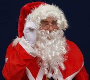 圣诞老人警告 免版税库存照片