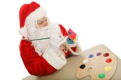 圣诞老人讨论会 免版税库存照片