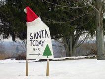圣诞老人访问 免版税库存图片