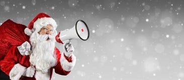 圣诞老人谈话 免版税库存图片