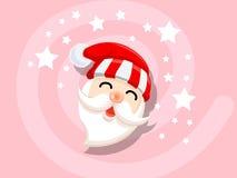圣诞老人象传染媒介圣诞节、新年快乐和装饰 免版税库存照片
