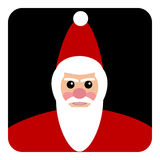 圣诞老人象 免版税库存照片