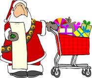 圣诞老人购物 免版税图库摄影