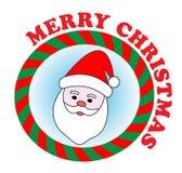 圣诞老人贴纸 库存图片