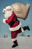 圣诞老人赛跑 库存照片