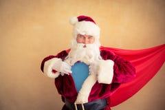 圣诞老人超级英雄 图库摄影
