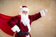 圣诞老人超级英雄 库存照片