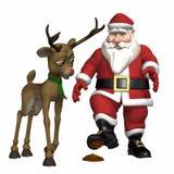 圣诞老人跨步时间 库存图片