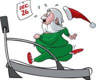 圣诞老人踏车 免版税库存照片