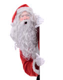 圣诞老人边偷看 图库摄影