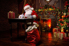 圣诞老人运作 库存图片