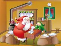 圣诞老人邮件 库存图片