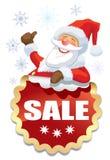 圣诞老人销售 免版税库存图片