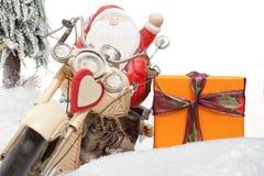 圣诞老人问候 免版税库存照片