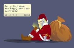 圣诞老人闲谈 免版税库存照片