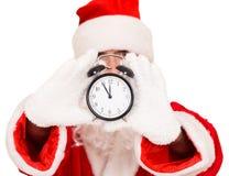 圣诞老人闹钟 库存照片