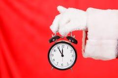 圣诞老人闹钟 免版税库存照片