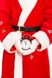 圣诞老人闹钟 图库摄影