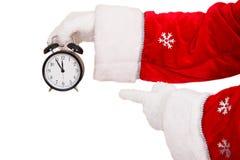 圣诞老人闹钟 库存图片