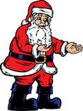 圣诞老人陈列 免版税库存图片