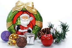 圣诞老人雕象玩偶 免版税库存照片