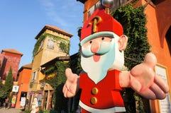 圣诞老人雕象 免版税库存图片