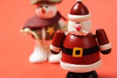 圣诞老人雪人 库存图片