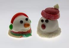 圣诞老人雪人 免版税库存图片