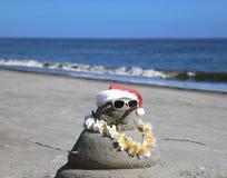 圣诞老人雪人 免版税图库摄影