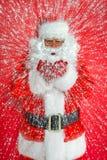 圣诞老人雪打击 库存图片