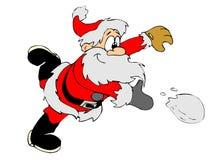 圣诞老人雪球 免版税库存照片