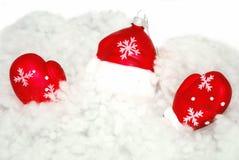 圣诞老人雪 库存照片