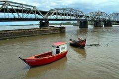 圣诞老人露西娅桥梁,蒙得维的亚,乌拉圭 免版税图库摄影