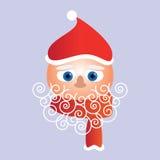 圣诞老人面对圣诞卡 库存图片