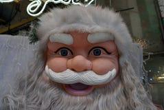 圣诞老人面对紧密细节 免版税库存图片