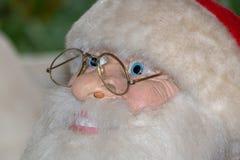 圣诞老人面对紧密细节 免版税图库摄影