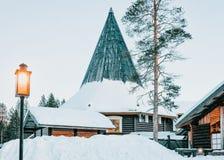 圣诞老人项目村庄芬兰拉普兰斯堪的那维亚 免版税库存图片