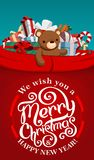圣诞老人项目红色大袋 免版税库存照片