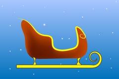 圣诞老人项目雪橇和雪蓝色背景 向量 库存照片