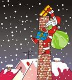 圣诞老人项目,烟囱,滑稽的例证 库存照片