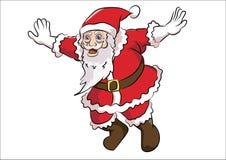 圣诞老人飞行姿势 免版税库存图片