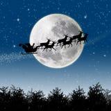 圣诞老人驯鹿雪橇 库存照片