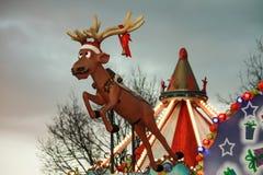 圣诞老人驯鹿鲁道夫 免版税库存图片