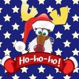 圣诞老人鹿 库存照片