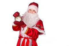 圣诞老人,圣诞节,时钟 库存图片