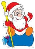 圣诞老人(向量) 免版税库存照片