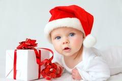 圣诞老人婴孩 免版税库存照片