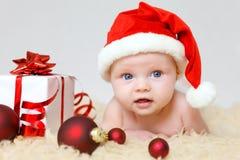 圣诞老人婴孩 图库摄影
