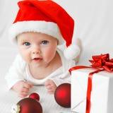 圣诞老人婴孩 库存图片